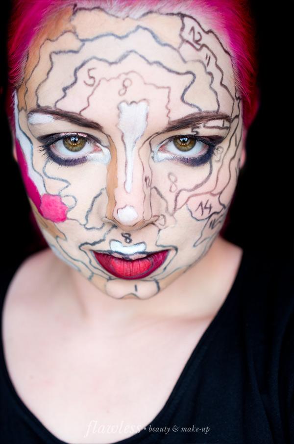 Malen nach Zahlen Make-up