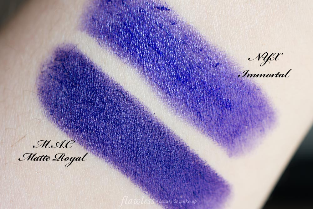 Nyx-Wicked-Lippies-Immortal-Dupe-MAC-Matte-Royal